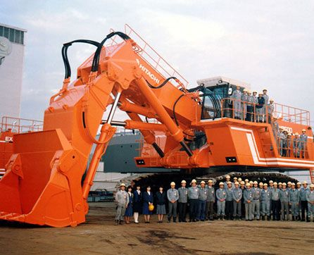 1987 - The EX3500 is released, Hitachi's entry into the