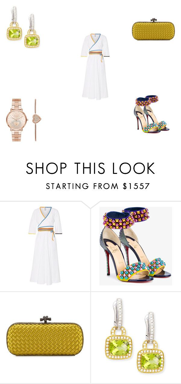 """Untitled #1070"" by panicsam ❤ liked on Polyvore featuring Rosie Assoulin, Christian Louboutin, Bottega Veneta, Frederic Sage and Michael Kors"