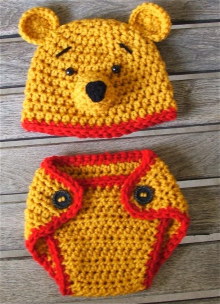 65 Crochet Amazing Baby Diaper For Outfits | Gorros, Ganchillo para ...