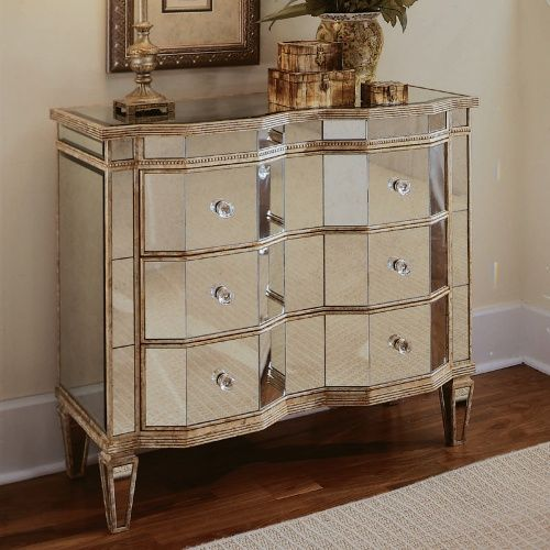 3 Drawer Curved Mirrored Chest Credenzas At Hayneedle Mirrored