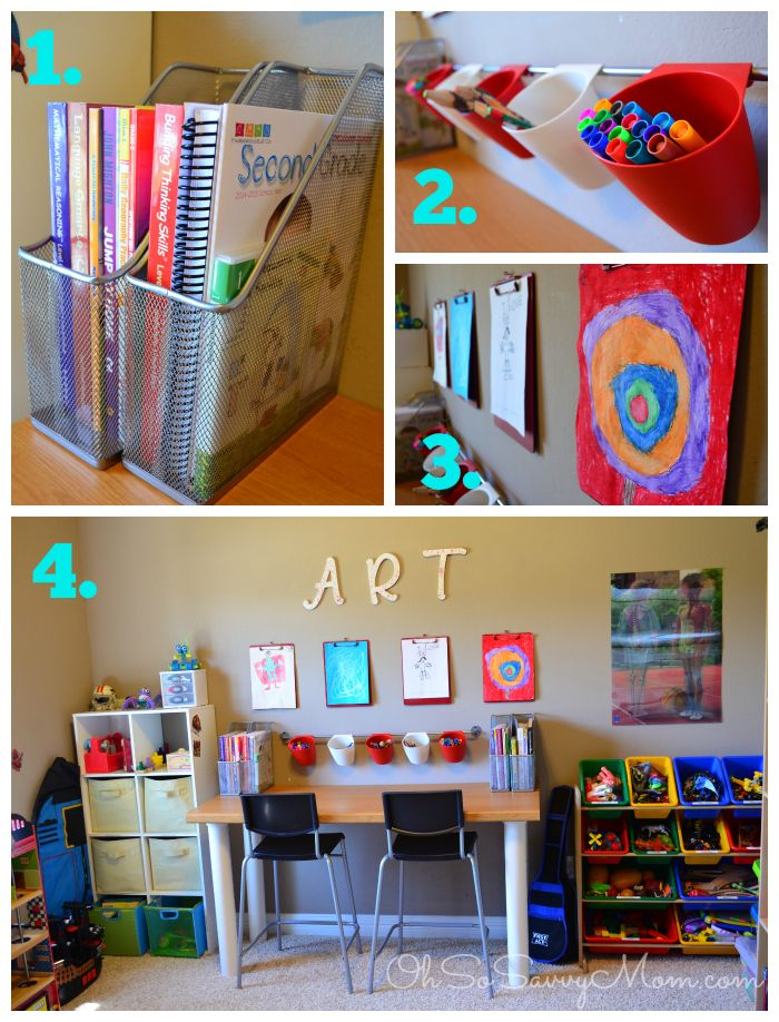 Best Homework Station Or Homeschool Area In Small Spaces 640 x 480