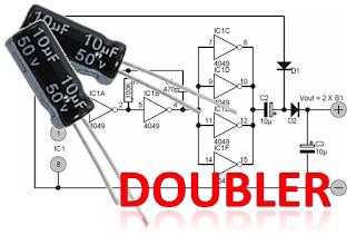Inilah Rangkaian Voltage Doubler Pengganda Tegangan Yang Menggunakan Komponen Digital