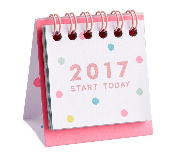 2017 mini desk calendar cute