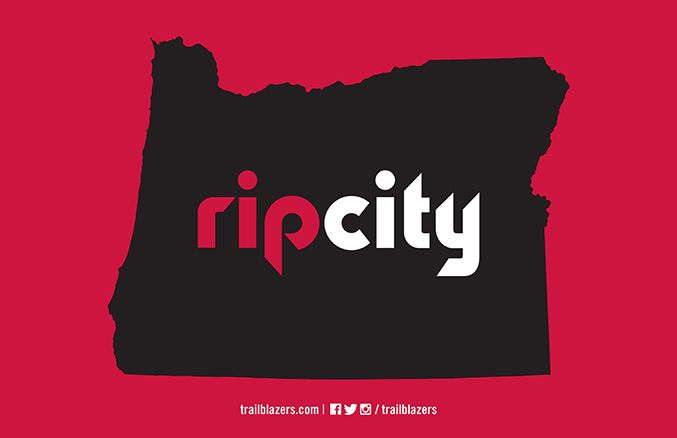 Rip City Oregon Placards Portland Trailblazers Oregon Basketball City Wallpaper
