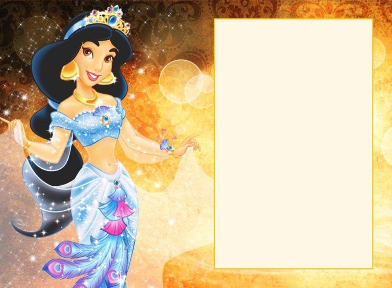 Printable Jasmine Invitation Card