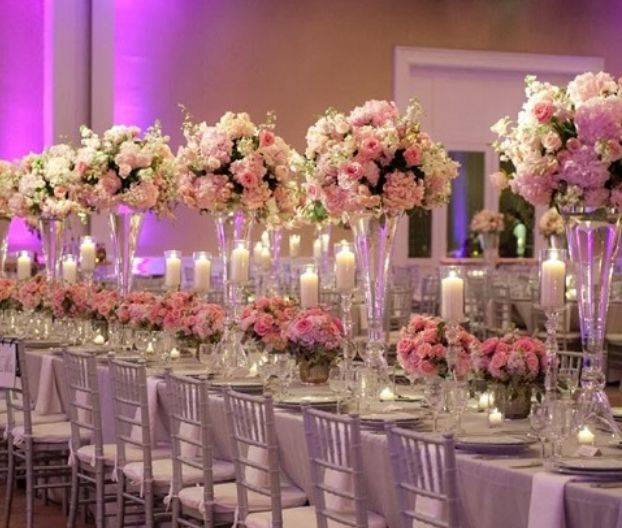 Wedding High Table Decoration Ideas: Awesome Table Decoration For Rectangular Tables
