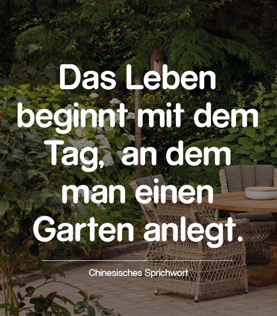 Ein Chinesisches Sprichwort Besagt Das Leben Beginnt Mit Dem Tag An Dem Man Einen Garten Anlegt Wie Recht Es Doc Chinesische Sprichworter Sprichworter Leben