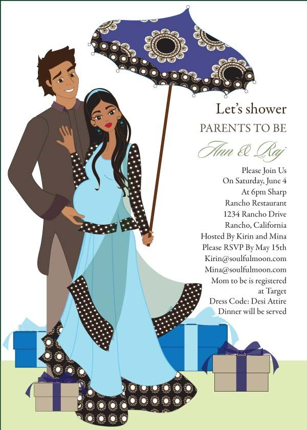 desi umbrella  indian baby shower invitation by soulfulmoon, Baby shower