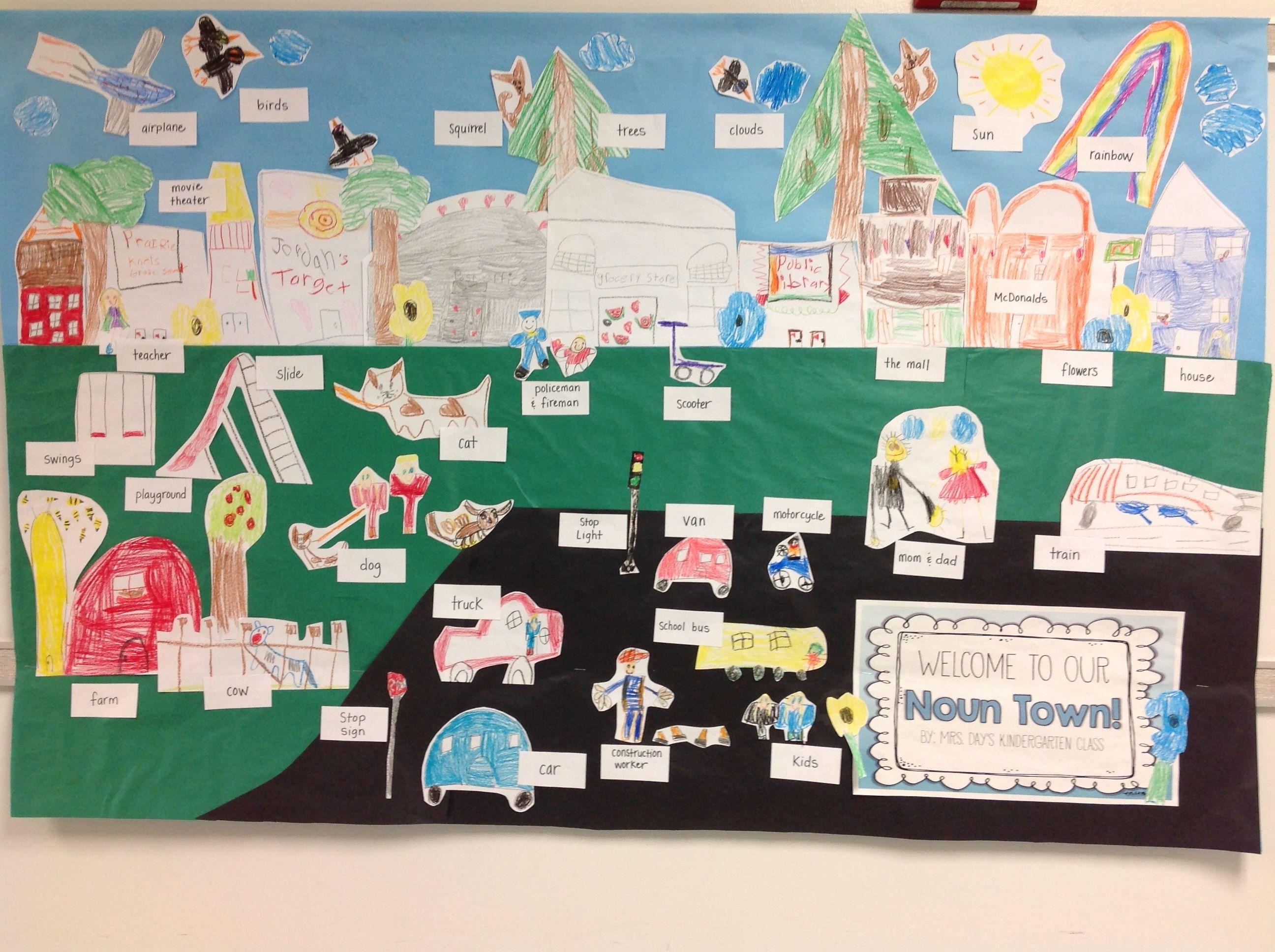 Noun Town K2 Kindergarten Activities Teaching Kindergarten