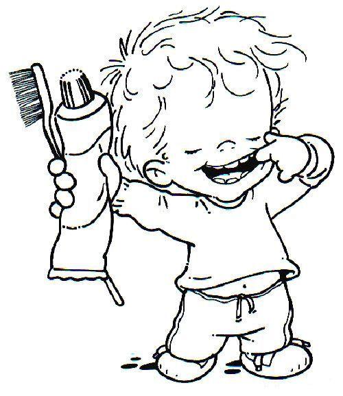 cepillo de dientes para colorear | Vocabulario Inglés | Pinterest ...