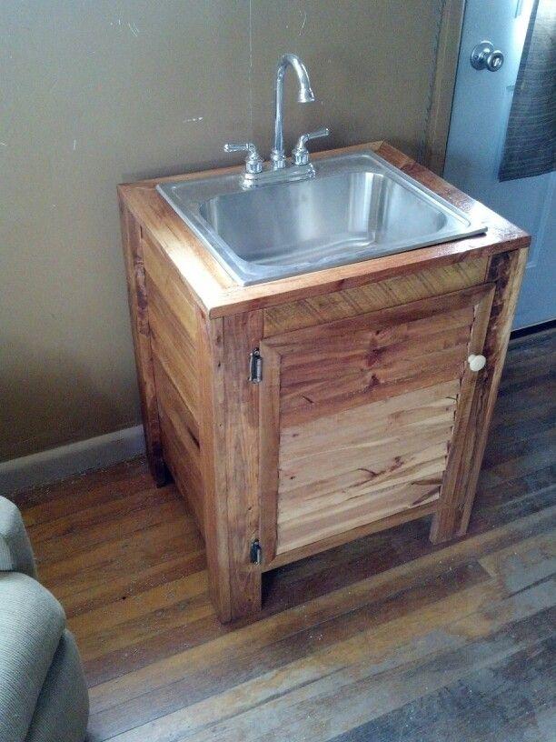 Vanity From Old Pallet Wood Rustic Bathroom Designs