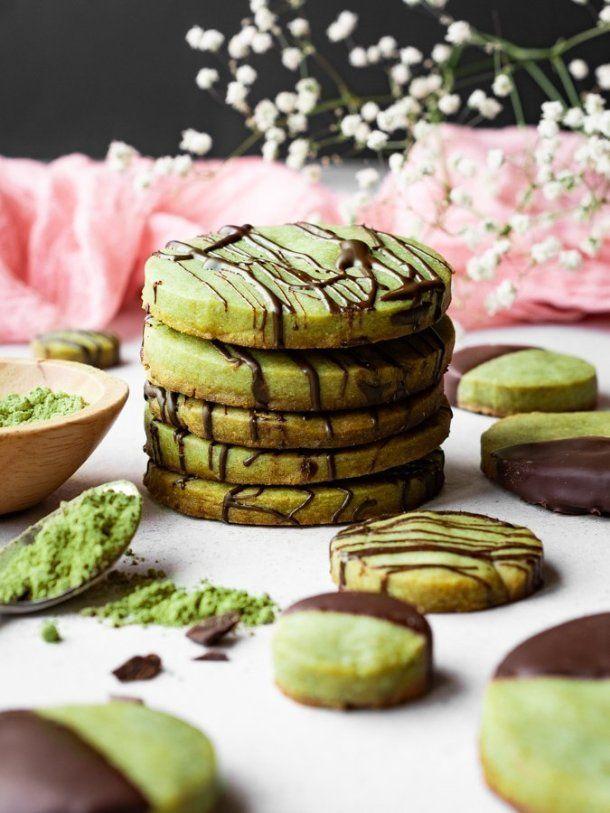Photo of Matcha Green Tea Shortbread Cookies – kickass baker