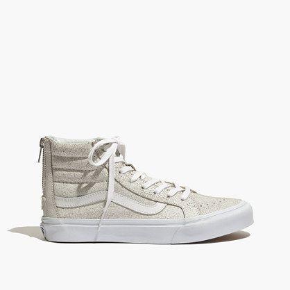 5a6bbd7d6d Madewell - Vans® SK8-Hi Slim Zip High-Top Sneakers in Crackled Suede ...