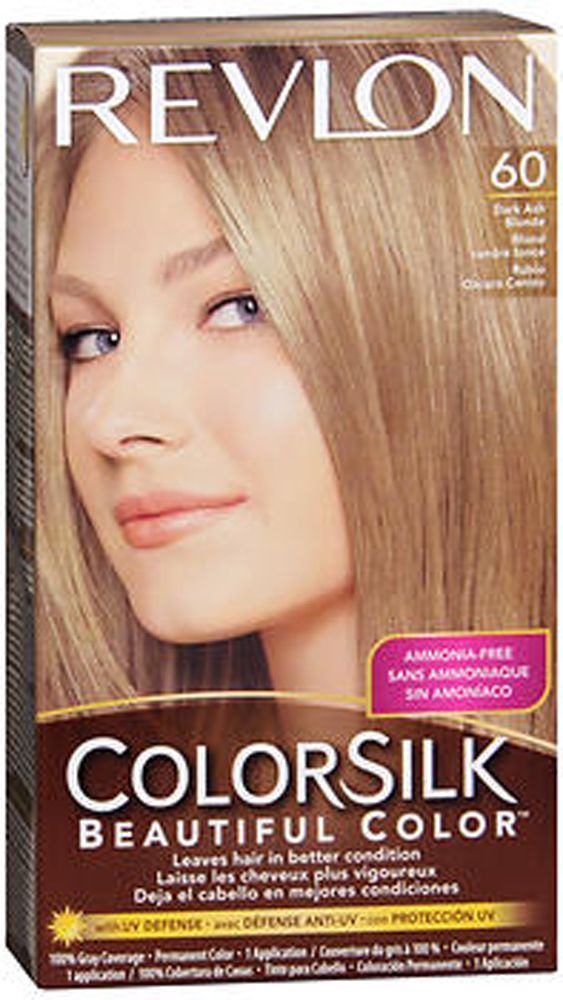 Revlon Colorsilk Hair Color 60 Dark Ash Blonde The Beauty