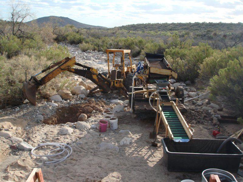 Small mining excavator