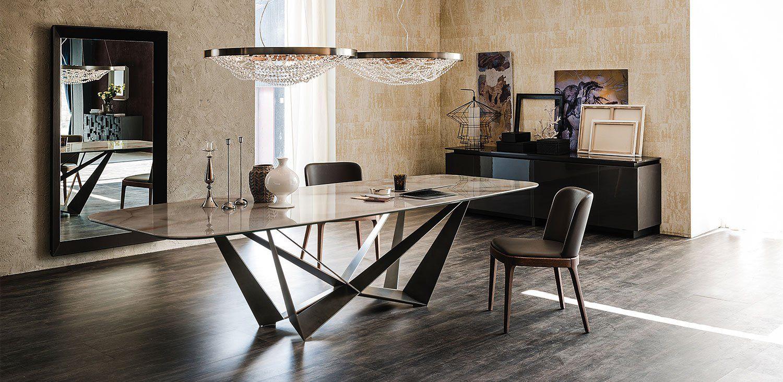 Cattelan Italia Skorpio Keramik Dining Table Metal Dining Table