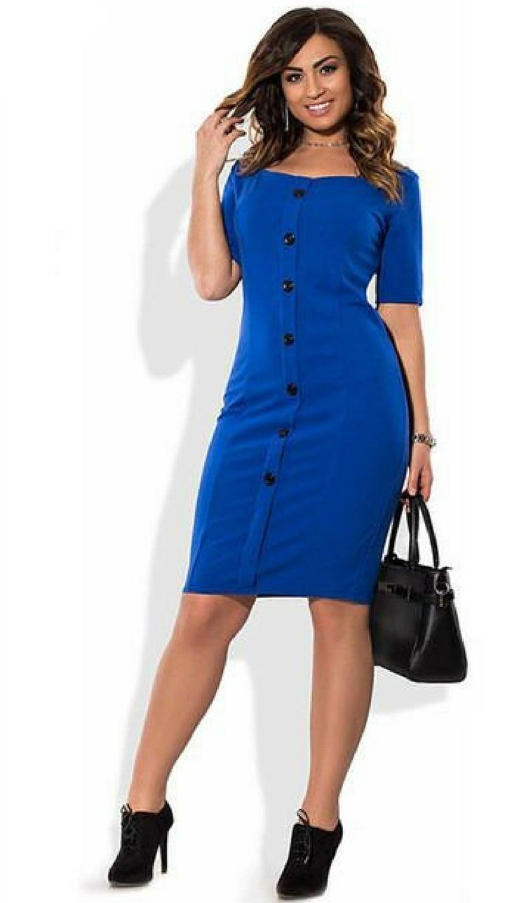 Hot Work Business Office Dress Plus Size 6x Blue Red Black Health