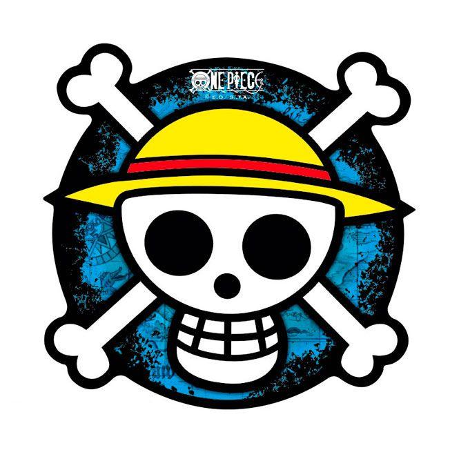 Alfombrilla ordenador One Piece, símbolo piratas de paja  Divertida Alfombrilla del popular manga One Piece y del famoso símbolo pirata de Los Piratas del sombrero de paja.