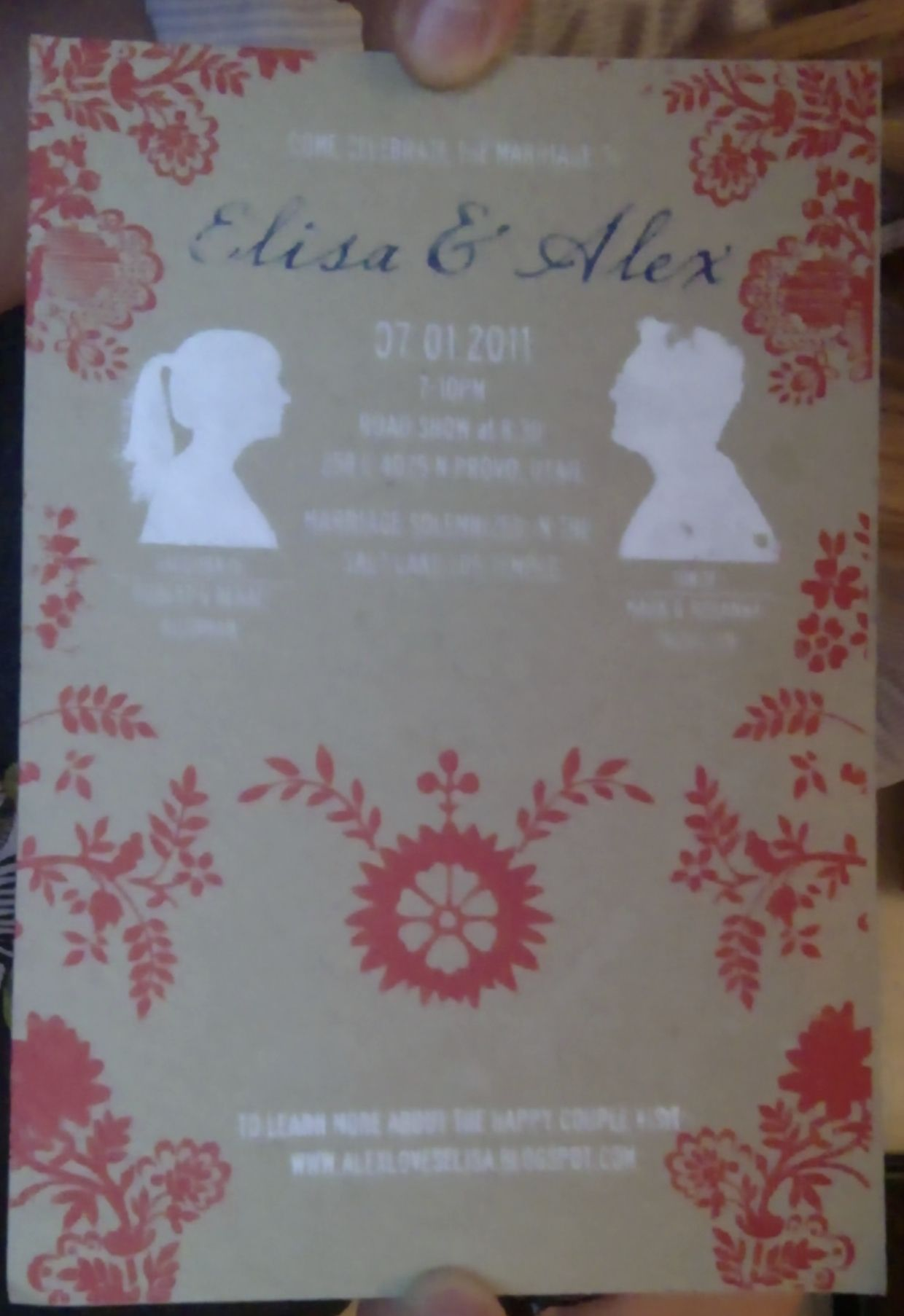 This is a cool invitation that was screen printed.
