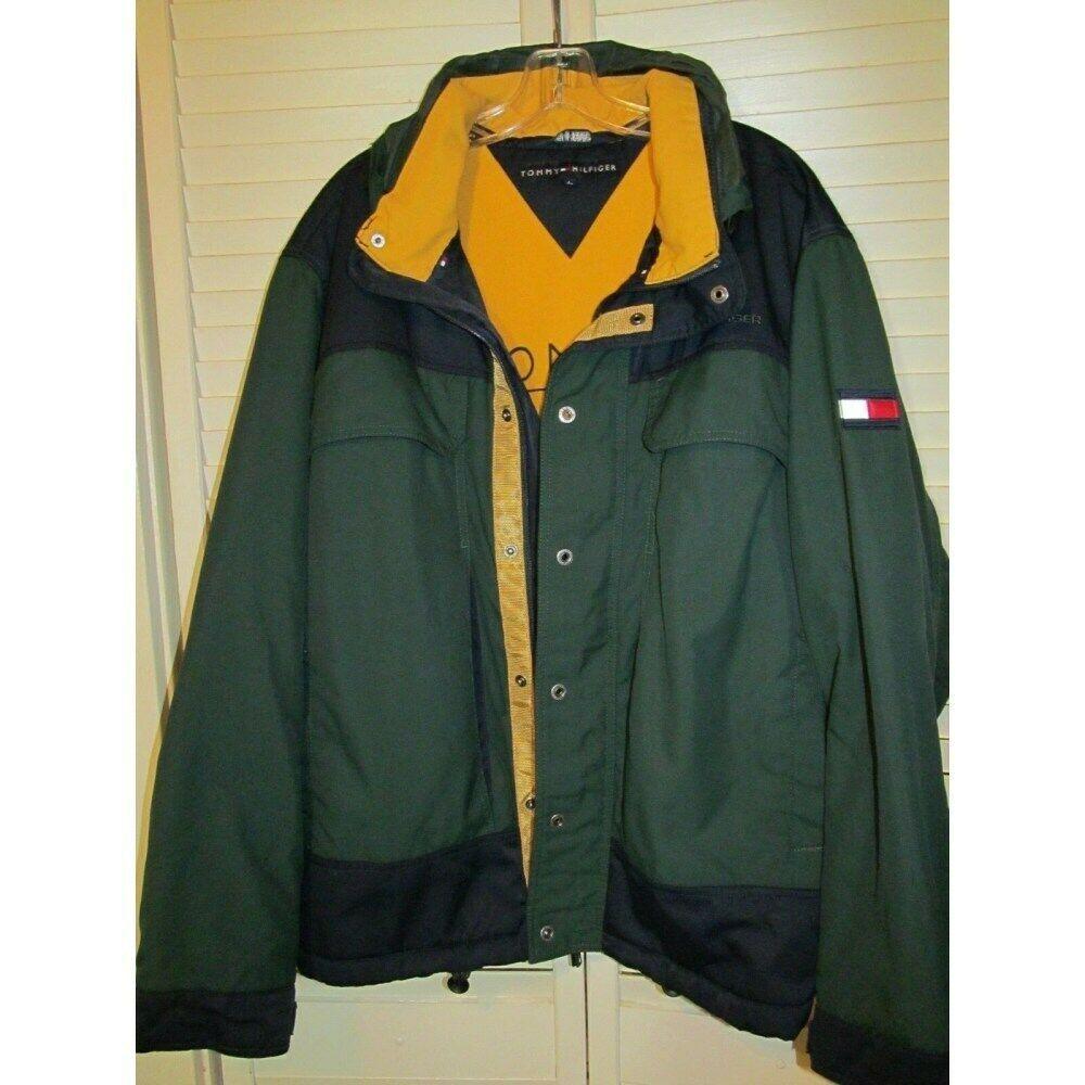 Tommy Hilfiger Insulated Jacket Mens Flag Hood Sailing Gold Coat Color Block Tommy Vintage Tommy Hilfiger Jackets Knit Sweater Coat Tommy Hilfiger Windbreaker [ 1000 x 1000 Pixel ]