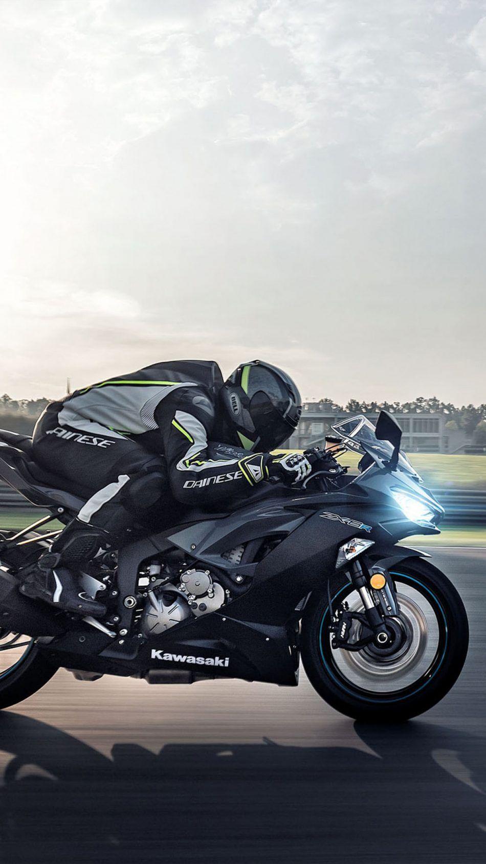 Kawasaki Ninja Zx 6r 2019 Race Track 4k Ultra Hd Mobile Wallpaper Ninja Bike Kawasaki Ninja Kawasaki Ninja Zx6r
