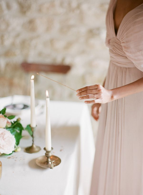 candlelit - photo by Greg Finck Photography http://ruffledblog.com/modern-romantic-wedding-in-provence