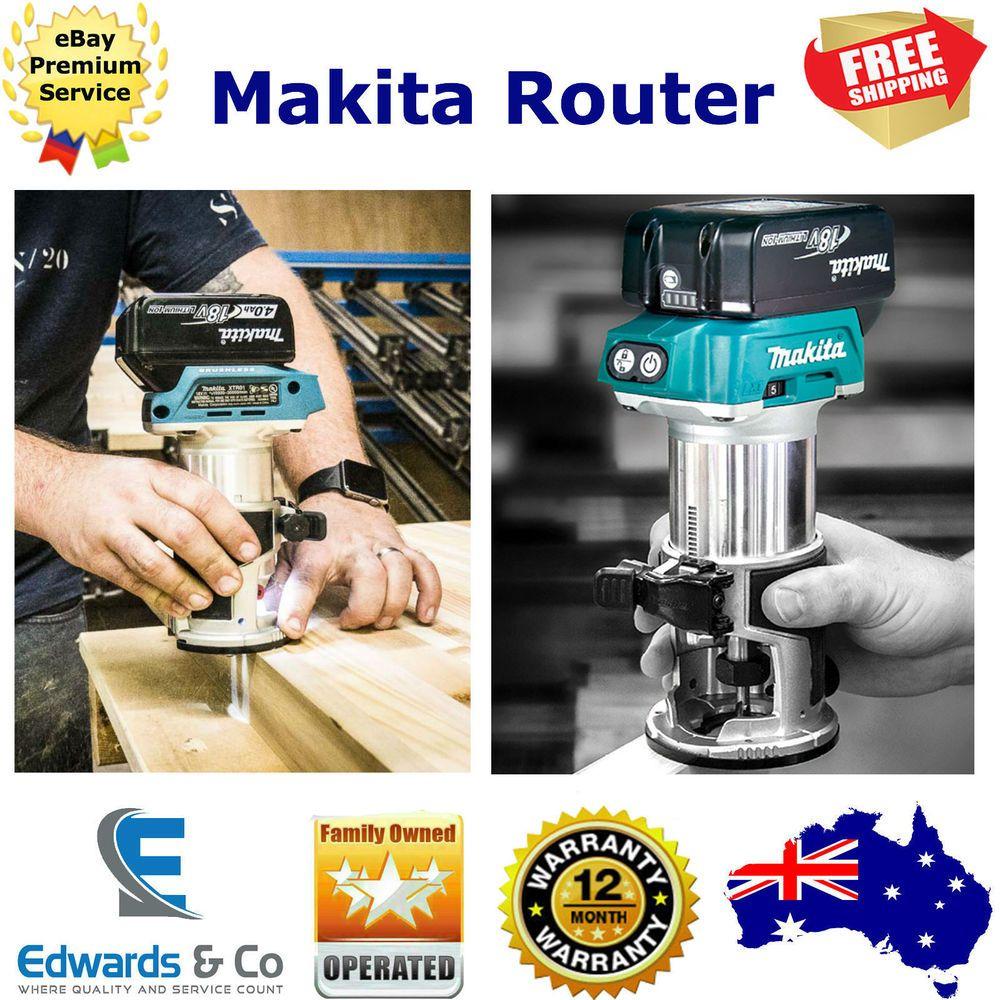 Makita Router 18v Drt50z Li Ion Cordless Brushless Laminate