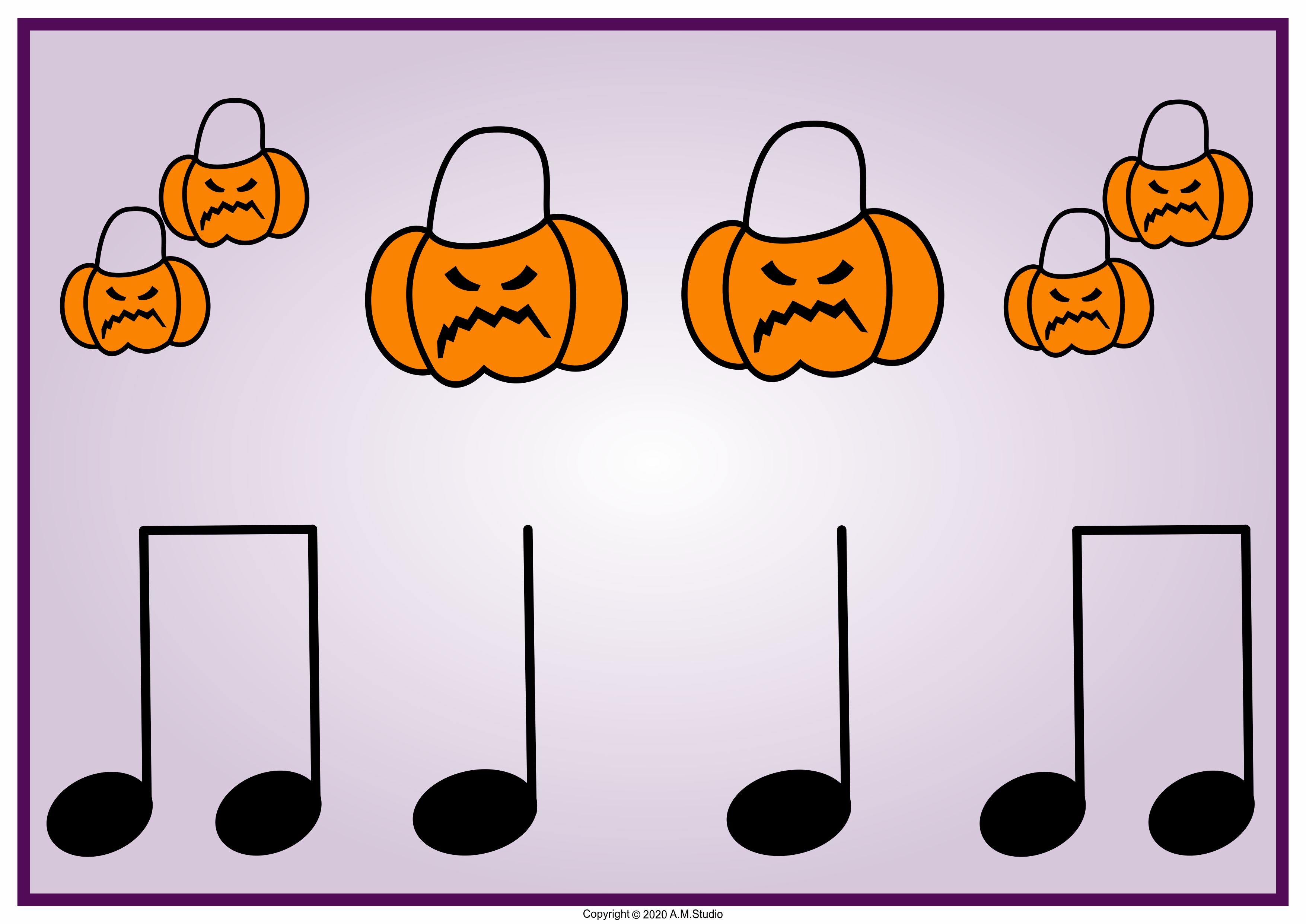 These Halloween Themed Rhythm Flashcards Will Help Your Students To Practice Reading The Quarter Note Halloween Music Activities Halloween Music Music Rhythm