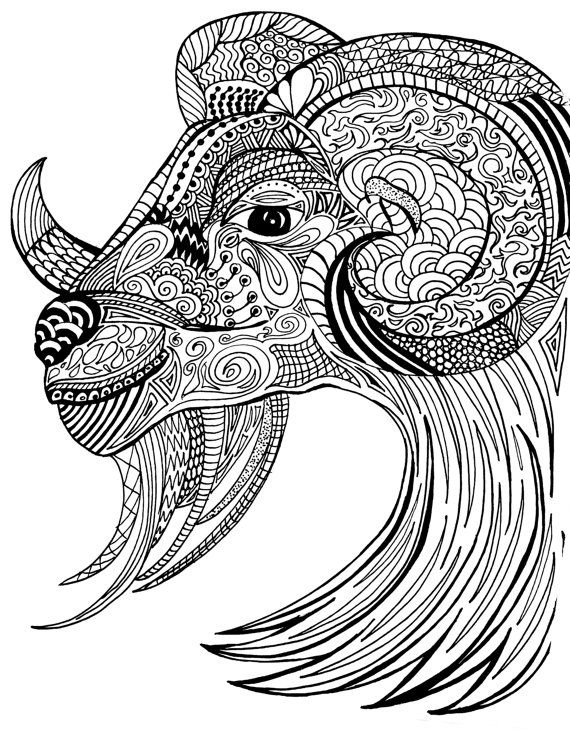 Adult Coloring Page Ram Coloring Sheet Pdf Download By Kikajoink