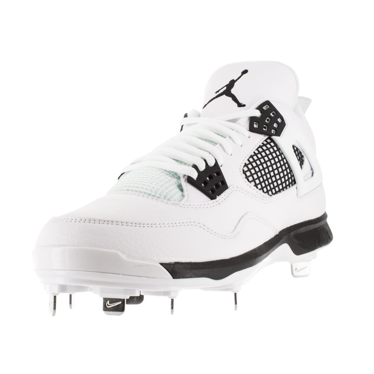 Round the bases with ease while running in these white cleats from Nike .  Featuring a slightly padded footbed and almond shape toes, these sneakers  will hit ...