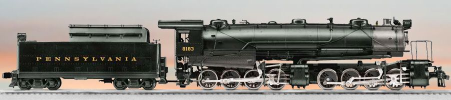 Lionel Trains Pennsylvania 0-8-8-0 CC2 Steam Locomotive #8183.  a length of track could be tacked to shelf to display the engine & tender.