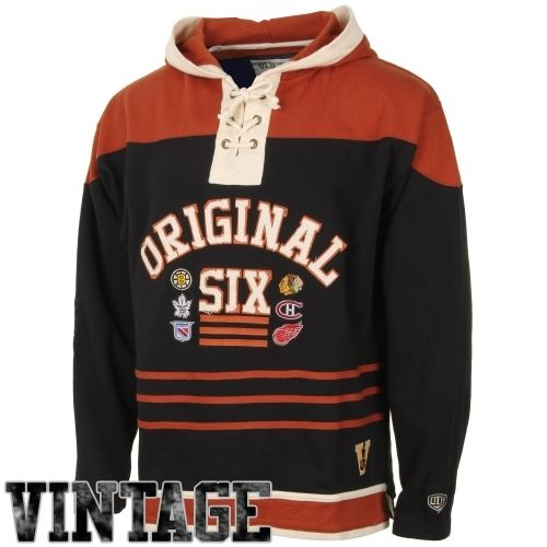 8cf8ca466 Old Time Hockey Original Six Powell Hoodie - Black | Sportsball ...