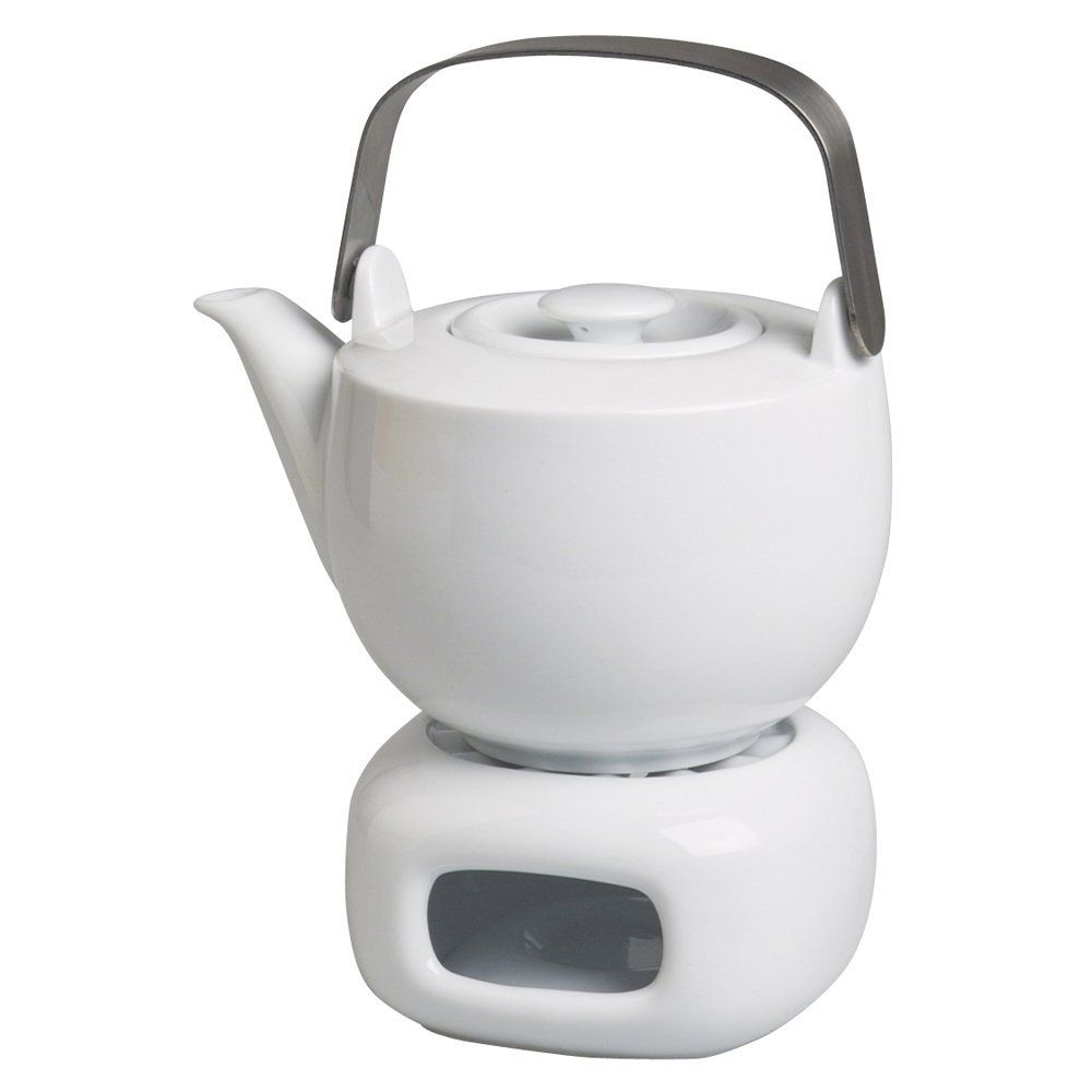 Teekanne Porzellan Mit Stövchen michael fischer porzellan teekanne mit stövchen tavola weiß 2 tlg