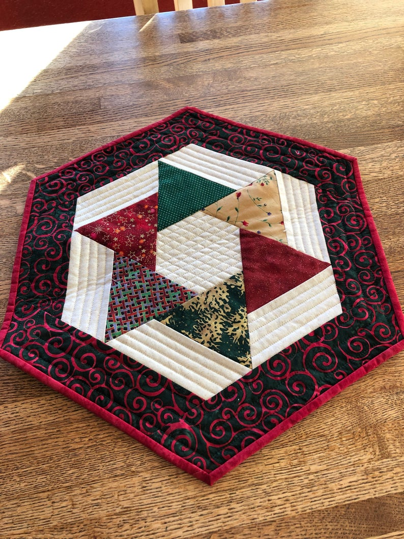 Corredor De Mesa Pequeno Acolchado Quilted Table Runners Christmas