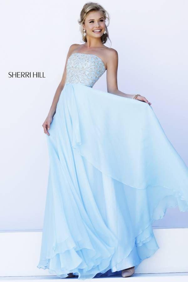 Sherri HIll #8554 I love this Cinderella blue Sherri Hill Dress!