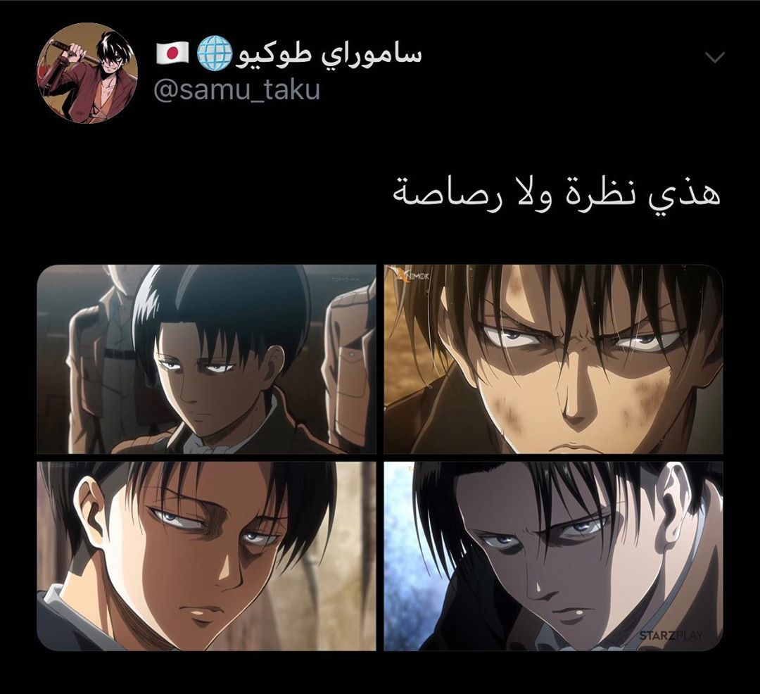 نظرات ليفاي دايم تسبب الرعب Attack On Titan Anime Character