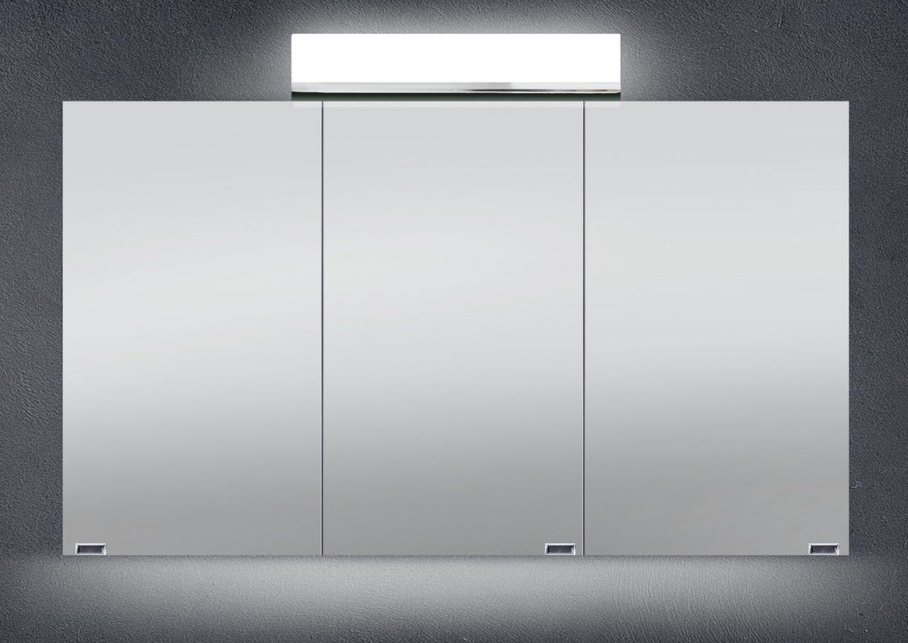 Spiegelschrank Bad 120 cm LED Beleuchtung doppelseitig verspiegelt ...
