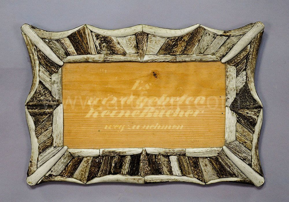 Great Picture Frame With Antler Marquetry Blondel Ca