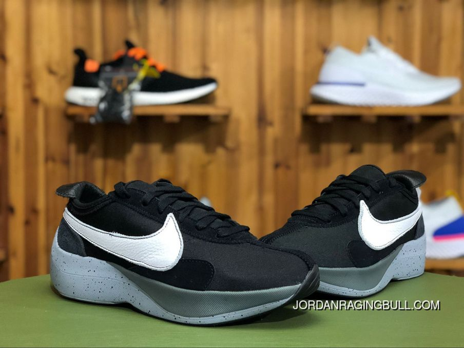 best website 32efc ae990 Nike Moon Racer Vapor Street AQ4121-001 Mens Running Shoes Black White-Wolf  Grey Latest