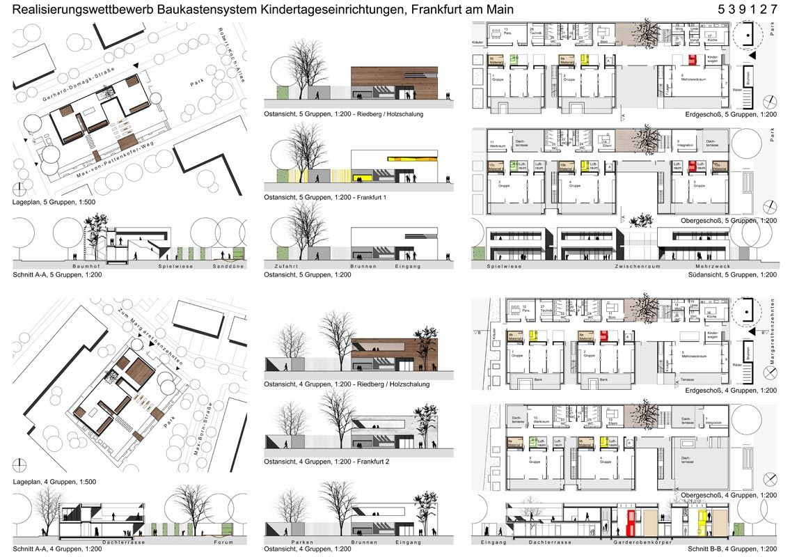 Kindertagesst tten by raum z architekten frankfurt for Grafikdesign studium frankfurt