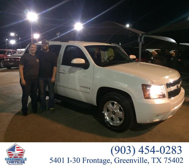 https://flic.kr/p/zpi7UK | Congratulations Justin Clark on your #Chevrolet #Tahoe from Steve Han at Greenville Chrysler Jeep Dodge Ram! | deliverymaxx.com/DealerReviews.aspx?DealerCode=J122