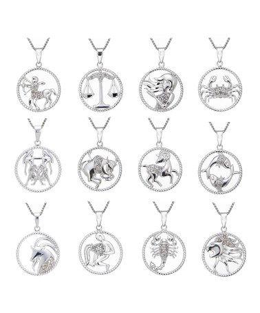 Diamond & Sterling Silver Zodiac Pendant Necklace #zulily #zulilyfinds