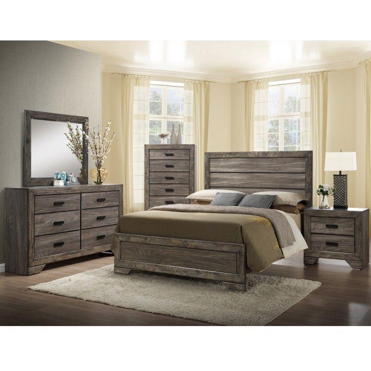 Nathan 6 Piece Queen Bedroom Set Wooden Frames King