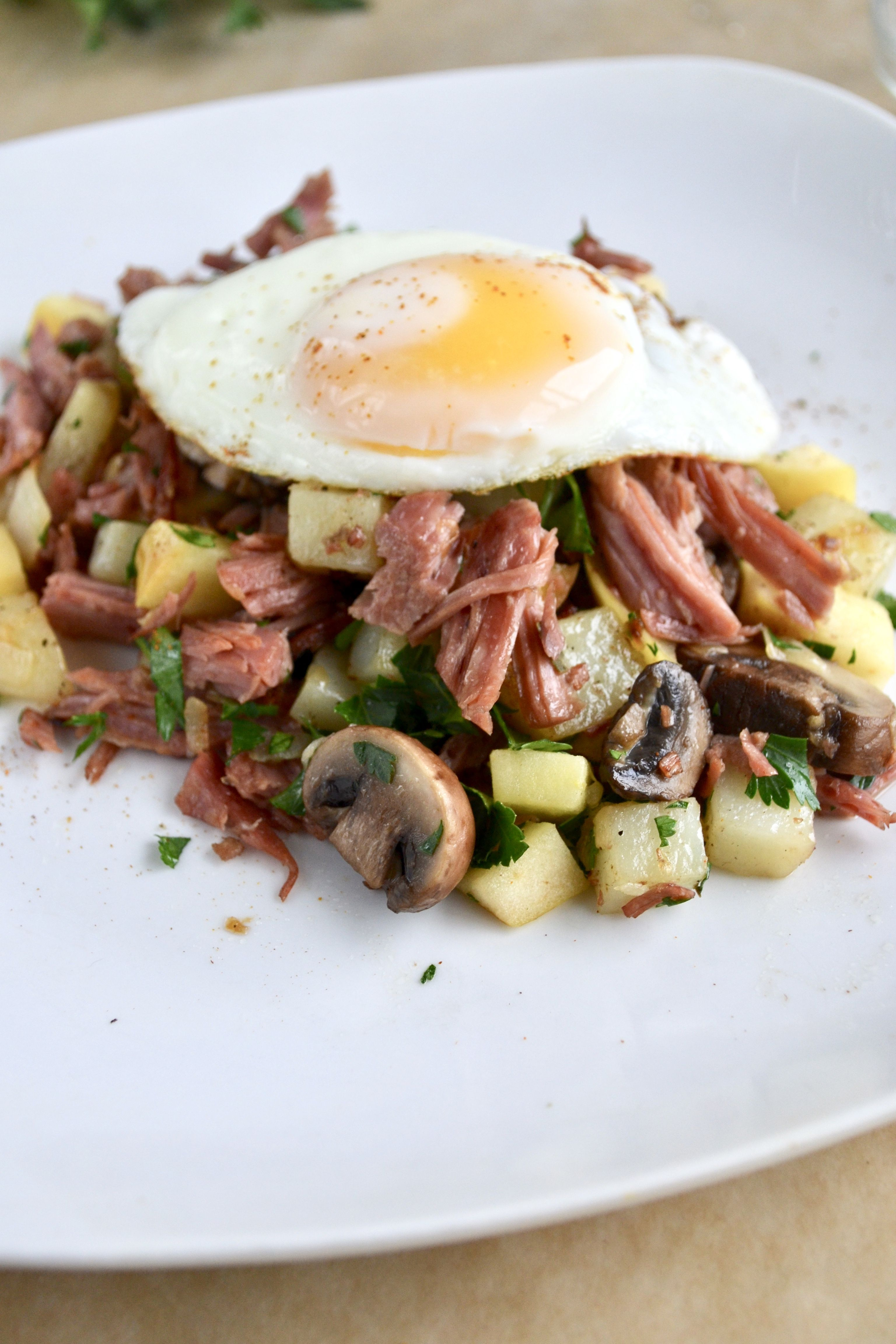 Corned Beef Hash with Apples and Mushrooms • Sage to ...