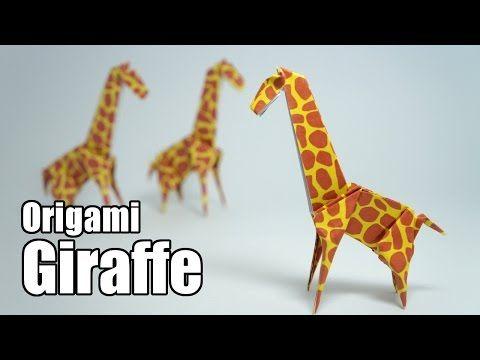 Origami Giraffe Jo Nakashima Youtube Origami Pinterest