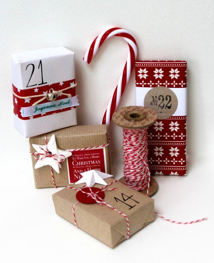 adventskalender selber basteln geschenke verpacken weihnachtlich ...