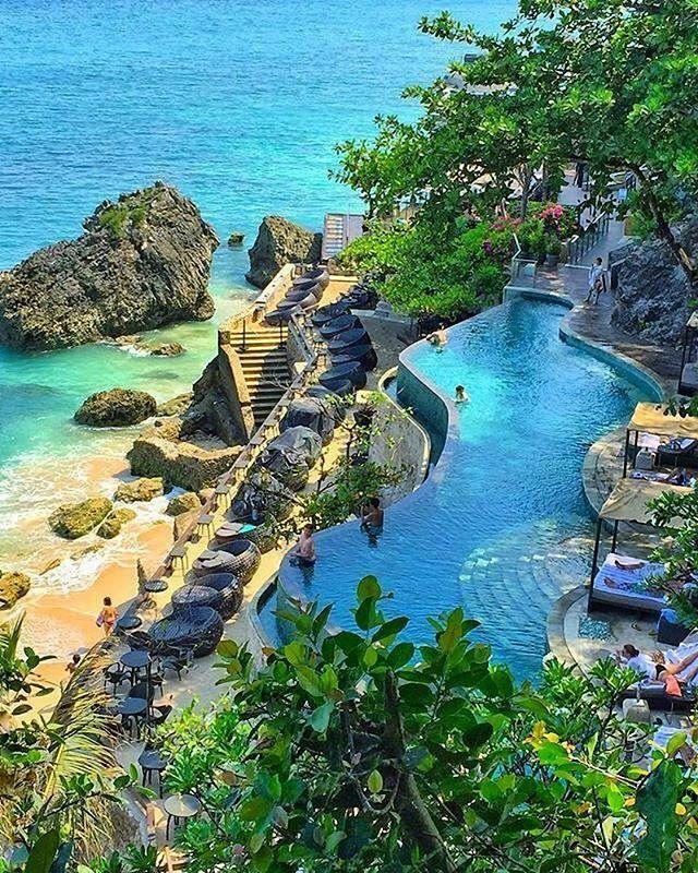 Ocean Beach Pool Ayana Resort Bali 📷 Christinatan1