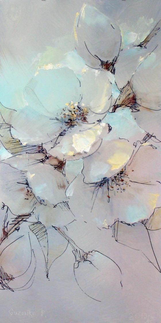 How Lovely Peinture Fleurs Fleurs Peintes Aquarelle Fleurs