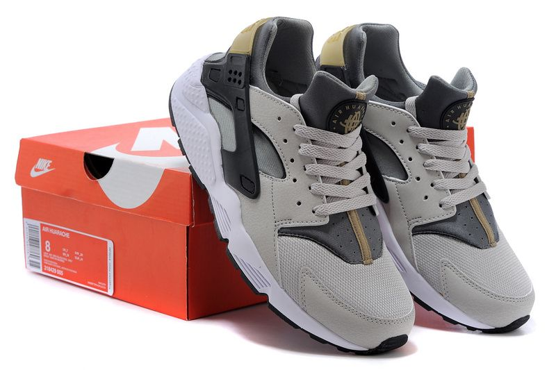 Nike Air Huarache Ash Grey Bamboo Brown Wolf Grey