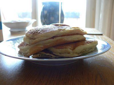 Pancakes au babeurre et au beurre noisette